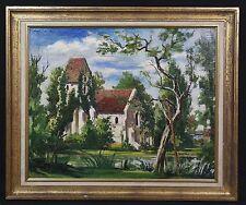 Pietra LECONTE04-61 Chiesa di Criquebeuf Con cornice olio painting Normandy