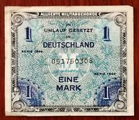 1944 Deutschland Eine Mark Note, German 1 Mark Note