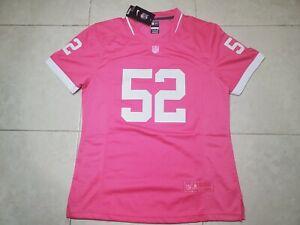 NWT Khalil Mack #52 Chicago Bears Women's Nike Game Player Jersey Size 2XL Pink