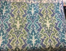 green blue teal white raised jaquard fabric Ikat by the yard tribal ethnic