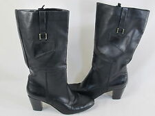 Old Navy Black Lined Pull on Fashion Boots Size 9 M US Excellent Condition