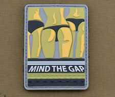 """PVC / Rubber Patch """"Mind The Gap"""" with VELCRO® brand hook"""