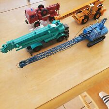 Various Diecast Crane Trucks - 4 Toy Vehicles Total. 1/50 or Other Scale