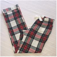 New Victoria's Secret Pajamas PJs Sleep Pants Plaid Cute Medium