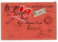 1949 REPUBBLICA RACCOMANDATA ESPRESSO DEMOCRATICA LIRE 45 VERONA