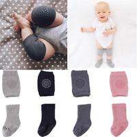 Baby Boy Girls Safty Crawling Anti Slip Knee Pads Non Skid Kneecap Socks Set US