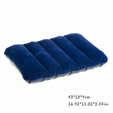 NEW Inflatable Flocked Travel Camping Pillow Camping Head Rest Cushion 8188