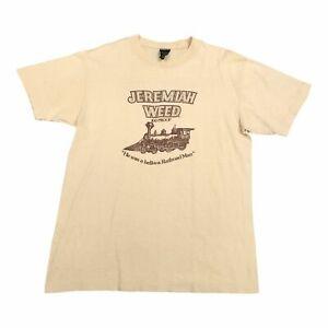 80s Vintage JEREMIAH WEED Mens T Shirt Large | Single Stitch Anvil