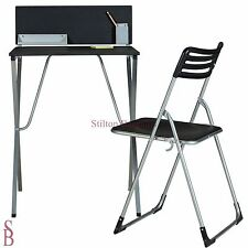 Office-in-a-Box Desk and Chair - Black - BNIP - student office in a box was £40