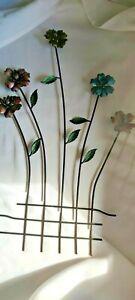 Metal flower wall hanging