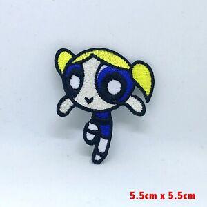 The Powerpuff Girls Superhero Animated Cartoon Iron on Sew on Embroidered Patch