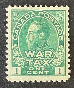 Canadian Stamp, Scott MR1 1c War Tax 1915 Admiral Scott (sm bend & minute tear)