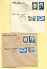 Sri Lanka, Ceylon, 1956  Buddha Jayanthi fdc set, two different envelope types