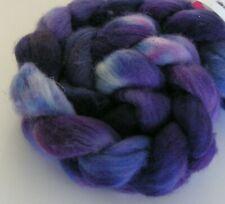 ROVING wool top hand painted dyed 4 oz spinning felting fiber falkland knitting