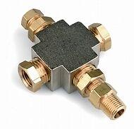 Adattatore 4 innesti lampa  bulbo olio pressione temperatura manometro 1/8 ntp