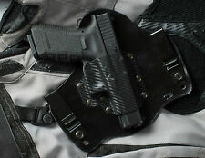 Carbon Fiber Kydex Leather Hybrid Gun Holster IWB for Glock 17 19 22 23 31 32 34
