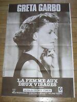 AFFICHE FILM / LA FEMME AUX DEUX VISAGES / GRETA GARBO / 80X120 / TRES BON ETAT