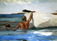 The Sponge Diver  by Winslow Homer  Giclee Canvas Print Repro