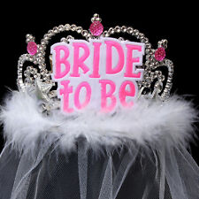 Bride To Be Crown Tiara Veil Lace Hen Night Party Accessories Wedding Bridal