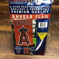 """New listing Angels Applique Banner House Flag Outdoor 44"""" X 28"""" Sign La Mlb"""
