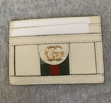 GUCCI GG Supreme Ophidia White Card Case Holder