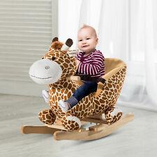 Homcom Schaukelpferd Schaukeltier Schaukelspielzeug Babyschaukel Spielzeug