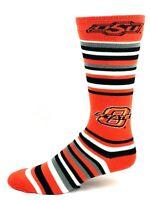 For Bare Feet Oklahoma State Cowboys Orange Gray Black White Stripe Crew Socks