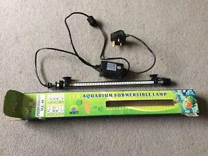 LED Aquarium Submersible Lamp. NEEDS MINOR REPAIR. Never Used.