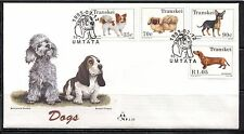 TRANSKEI SOUTH AFRICA 1993, DOGS, Scott 283-286 ON FDC