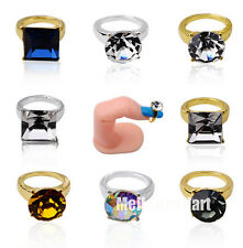 Fashion Personality Finger Tip Elegant  Ring Nail Art Ring CZ Rhinestones False