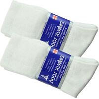 3-12 Pairs Diabetic Circulatory Socks Mens Women Crew Cotton 9-15 Long WHITE