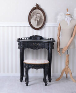 Make-Up Stool Dressing Table Baroque Cosmetic Wall Side Console Antique