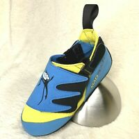 Mad Rock MAD MONKEY 2.0 Climbing Shoe for Kids: Lt Blue/Yellow - Youth Sizes