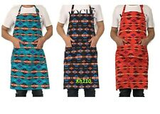 Navajo Southwest Chef Apron With Pockets Bbq /Kitchen- Choose Color!