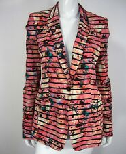 Banana Republic NWT Long Sleeve Jacket Blazer Size Tall 6 Pink Black Floral 250
