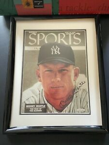Mickey Mantle Signed 1956 Sports Illustrated Cover UDA Autographed SI Upper Deck