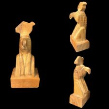 BEAUTIFUL ANCIENT EGYPTIAN STYLE WOODEN STATUE (1) LARGE !!