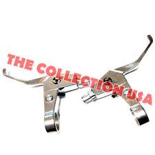 Silver 2-finger Brake Lever Set For Mini Pocket Bike Stand-up Gas Scooters