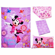 Minnie Mouse 4 Piece Toddler Bedding Set Quilt 2 Sheets Pillow Case Girl Pink