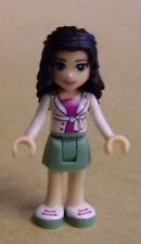 Lego Friends Figur - Emma (white Jacket, green skirt, Mädchen) Neu