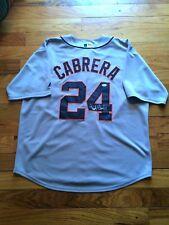 DETROIT TIGERS MIGUEL CABRERA SIGNED JERSEY MLB MVP TRIPLE CROWN COA JSA LOA B