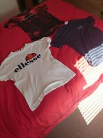 3  Medium Branded T Shirts (Emporio Armani EA7, Ellesse + Supply & Demand)