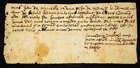 OLD MANUSCRIPT OF BESALÚ. INK ON PAPER. CATALUNYA. SPAIN. 1330