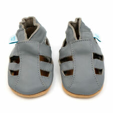 ebae72dc6fb4e Chaussures gris en cuir pour bébé