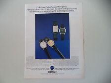 advertising Pubblicità 1979 OROLOGI SEIKO XU 230/XT 124/XT 130/XU238