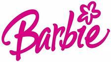 1 A5 PINK BARBIE LOGO IRON ON T SHIRT TRANSFER WHITE/LIGHT FABRICS