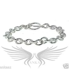 """Ladies Beautiful Silver Plated Chain Style No Stone 7"""" Tennis Bracelet LOA537"""