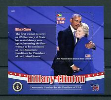 Guyana 2016 MNH Hillary Clinton IV S / S Barack Obama noi presidenti STAMPS