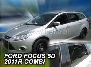 4 Deflettori Aria Antiturbo per Ford Focus MK3 2011-2018 5 porte SW