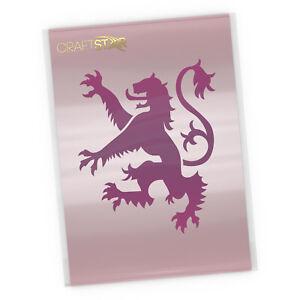 Lion Rampant Stencil -  Heraldic Scottish Lion Template by CraftStar